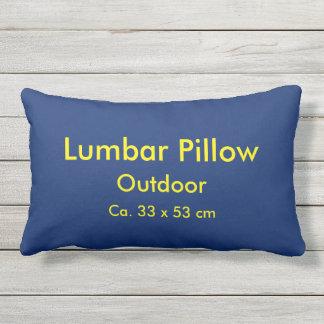 Lumbar Pillow Outdoor uni Blue