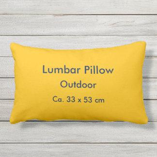 Lumbar Pillow Outdoor uni Yellow