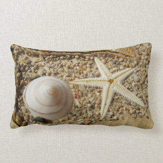 Lumbar pillow with Sea shell and Star Fish