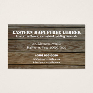 Lumber Business Card