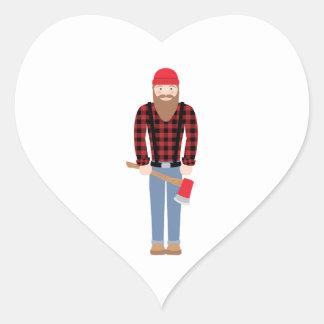 Lumberjack Axe Heart Sticker