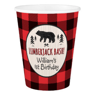 Lumberjack Birthday Paper Cup Lumberjack Party