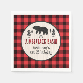 Lumberjack Birthday Party Napkin Lumberjack Party Disposable Napkins