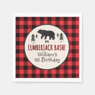 Lumberjack Birthday Party Napkin Lumberjack Party Disposable Serviette