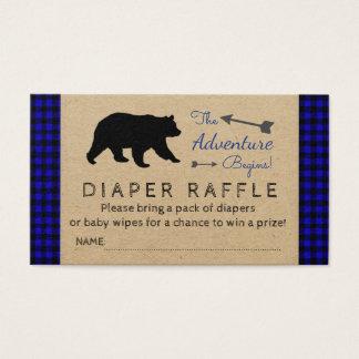 Lumberjack Blue Buffalo Plaid Diaper Raffle Ticket