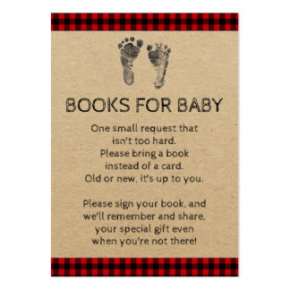 Lumberjack Bring A Book Baby Shower Cards Pack Of Chubby Business Cards