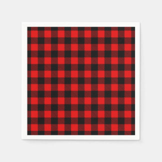 Lumberjack Buffalo Plaid Disposable Serviette