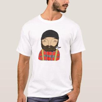 Lumberjack Chickadee Hipster Woodland Mens T-shirt