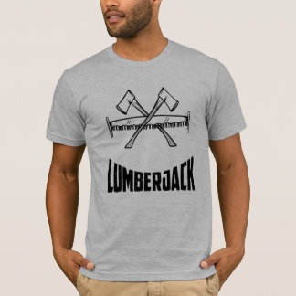 Lumberjack Logger Axe & Saw T-Shirt