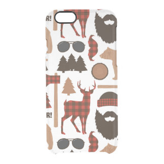 Lumberjack Pattern Clear iPhone 6/6S Case