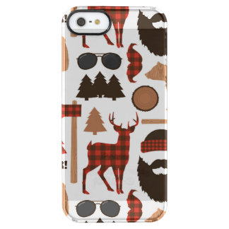 Lumberjack Pattern Clear iPhone SE/5/5s Case