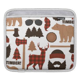 Lumberjack Pattern iPad Sleeve