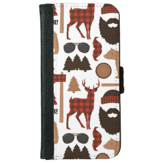 Lumberjack Pattern iPhone 6 Wallet Case