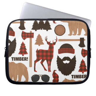 Lumberjack Pattern Laptop Sleeve