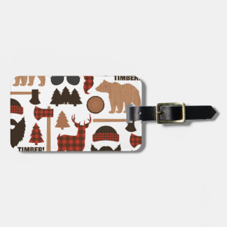 Lumberjack Pattern Luggage Tag