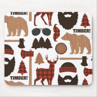 Lumberjack Pattern Mouse Pad