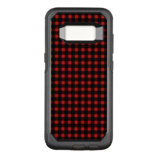 Lumberjack Red Black Winter Buffalo Plaid OtterBox Commuter Samsung Galaxy S8 Case