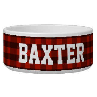 Lumberjack Red Buffalo Plaid Custom Name