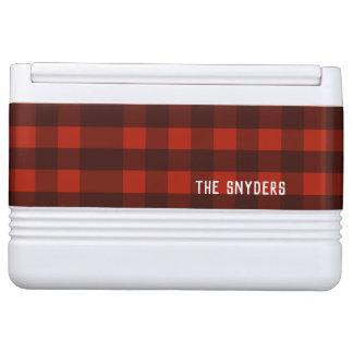 Lumberjack Red Buffalo Plaid Custom Name Cooler