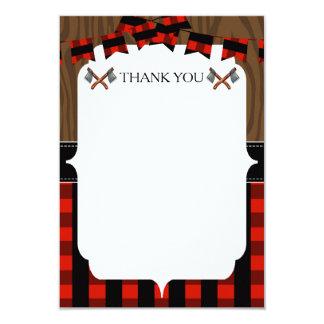 Lumberjack Rustic Thank You Card