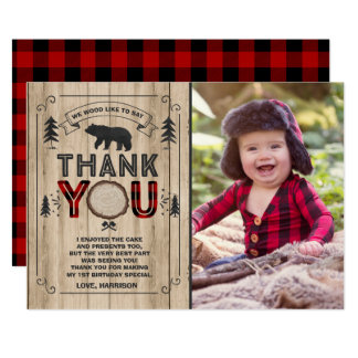 Lumberjack Thank You Card Lumberjack Party