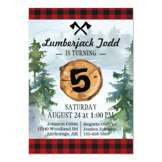 Lumberjack Wood Stump Forest Wilderness Birthday Card