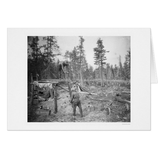 Lumberjacks in Alaska 1916 Card
