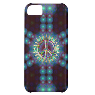 LumiBlue Groovy Peace Sign iPhone 5 Case