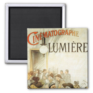 Lumière Brothers Cinema Poster Square Magnet