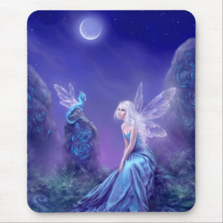 Luminescent Fairy & Dragon Art Mousepad