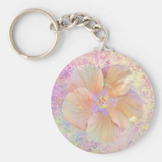 Luminescent hibiscus keychain