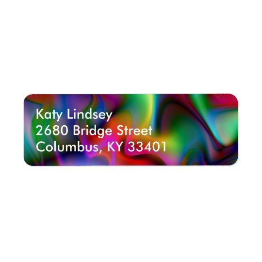 Luminous 4 Abstract Fractal Geek Art Return Address Label