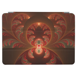Luminous abstract modern orange red Fractal iPad Air Cover