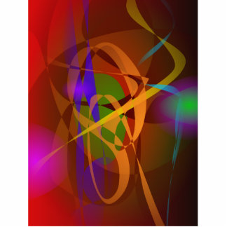 Luminous Brown Digital Abstract Art Photo Cut Outs