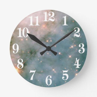 Luminous Carina Nebula Round Clock