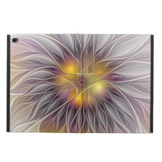 Luminous Colorful Flower, Abstract Modern Fractal Powis iPad Air 2 Case
