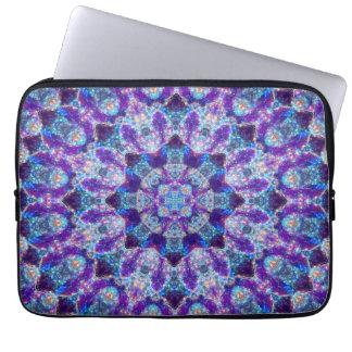 Luminous Crystal Flower Laptop Sleeve