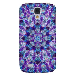 Luminous Crystal Flower Mandala Samsung Galaxy S4 Covers