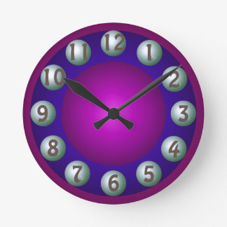 Luminous Dimensional Bold Colorful Contemporary Round Clock