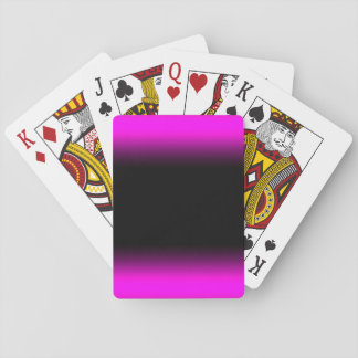 Luminous Pinkish Purple and Black Ombre Playing Cards
