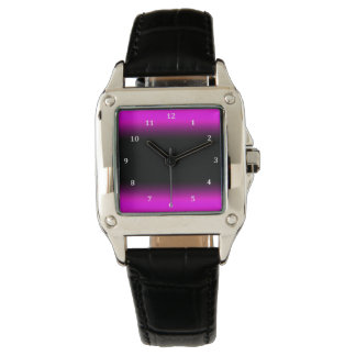 Luminous Pinkish Purple and Black Ombre Watch