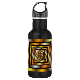 Luminous Tunnel Colorful Graphic Fractal Pattern 532 Ml Water Bottle