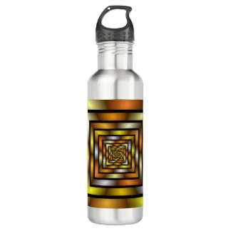 Luminous Tunnel Colorful Graphic Fractal Pattern 710 Ml Water Bottle