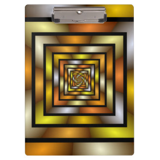 Luminous Tunnel Colorful Graphic Fractal Pattern Clipboard