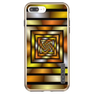 Luminous Tunnel Colorful Graphic Fractal Pattern Incipio DualPro Shine iPhone 8 Plus/7 Plus Case