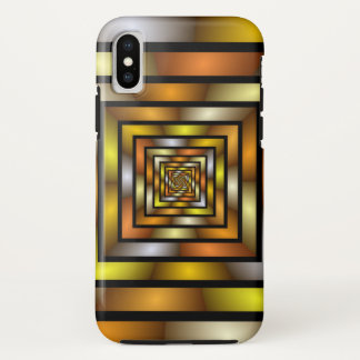 Luminous Tunnel Colorful Graphic Fractal Pattern iPhone X Case