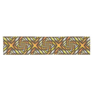 Luminous Tunnel Colorful Graphic Fractal Pattern Short Table Runner