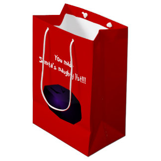 Lump of Coal Medium Gift Bag