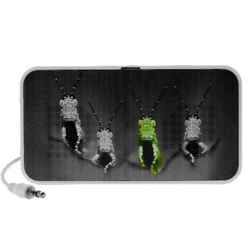 Lumpy Green Bug Mp3 Speakers