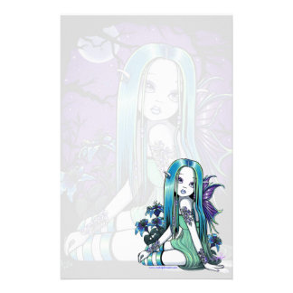 Luna Gothic Moon Lilly Fairy Art Stationery